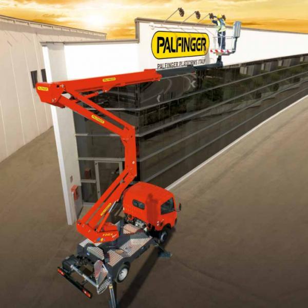 palfinger 23m truck mount hire
